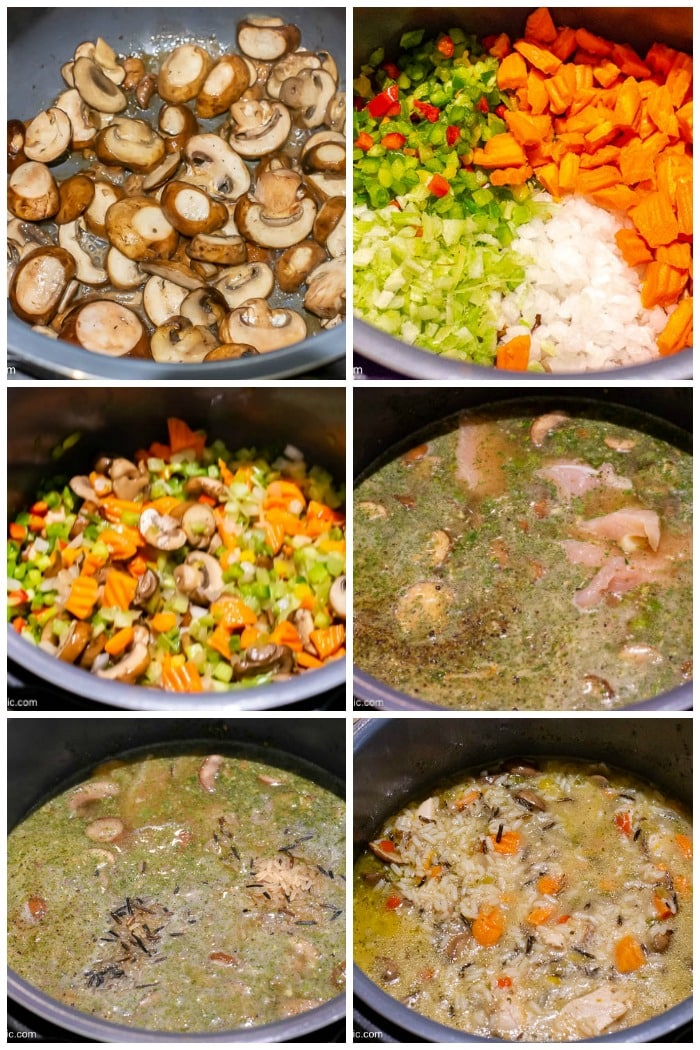 Instant-Pot-Chicken-And-Wild-Rice-Soup-How-To-Make-Photo-Collage
