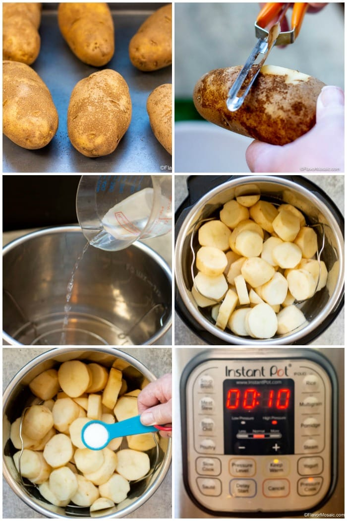 Step By Step Photos of How To Make Instant Pot Mashed Potatoes