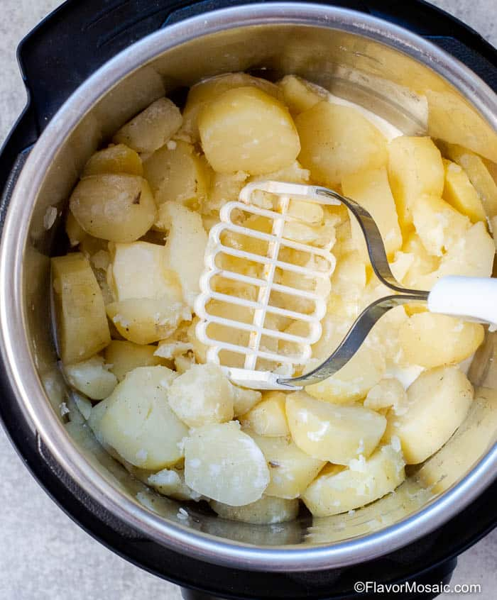 Mashing Potatoes in IP for Instant Pot Mashed Potatoes