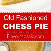 Old Fashioned Chess Pie Pin with 2 photos and red label