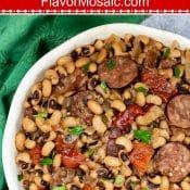 Instant Pot Black Eyed Peas Long Pin Flavor Mosaic