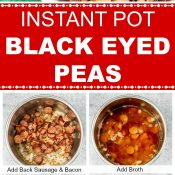 Instant Pot Black Eyed Peas Long Pin Photo collage