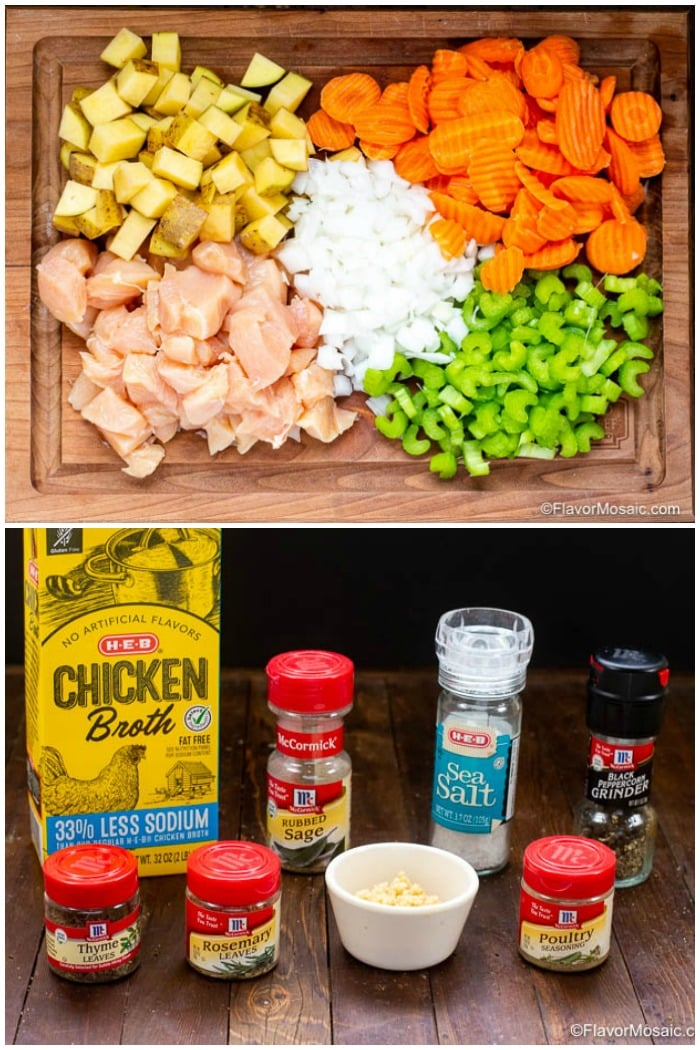 Ingredients for Instant Pot Chicken Stew