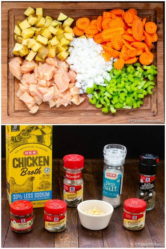 Ingredients for Instant Pot Chicken Stew