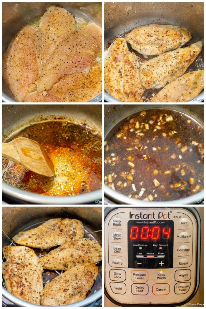 Instant Pot Chicken Piccata Step By Step Process How To Make Photo Collage Flavor Mosaic