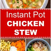 Instant Pot Chicken Stew Long Pin Multiple Photos Flavor Mosaic