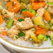 Instant Pot Chicken Stew Pin 1 Photo Red Label Bottom Flavor Mosaic