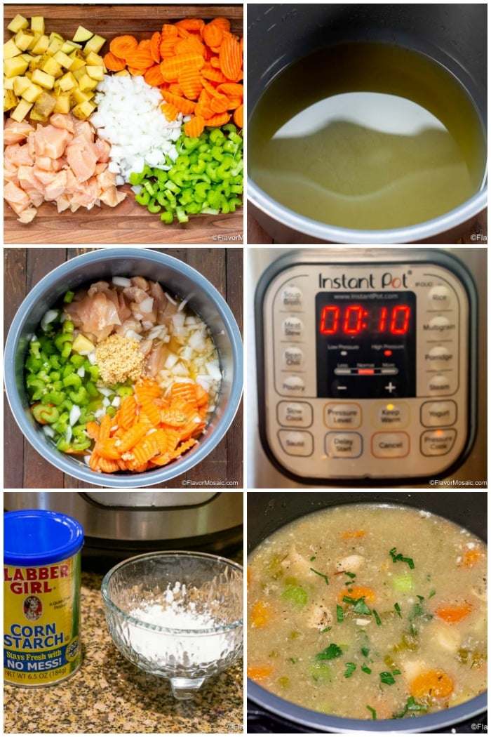 Instant Pot Chicken Stew Step By Step Photos