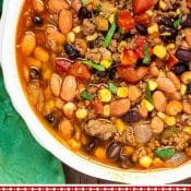 Instant Pot Taco Soup 1-photo red label pin Flavor Mosaic
