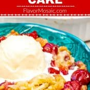 Cherry Pineapple Dump Cake 1 Photo Red Label Flavor Mosaic