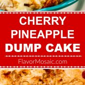Cherry Pineapple Dump Cake 2-Photo Red Label Long Pin by Flavor Mosaic