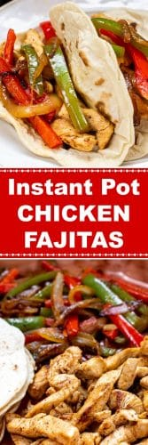 Instant Pot Chicken Fajitas Long Pin 2 Flavor Mosaic