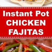 Instant Pot Chicken Fajitas Long Pin 2 Flavor Mosaic