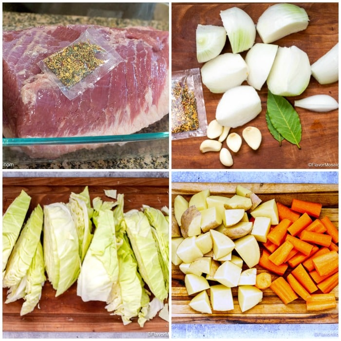 Ingredients For Instant Pot Corned Beef And Cabbage Flavor Mosaic