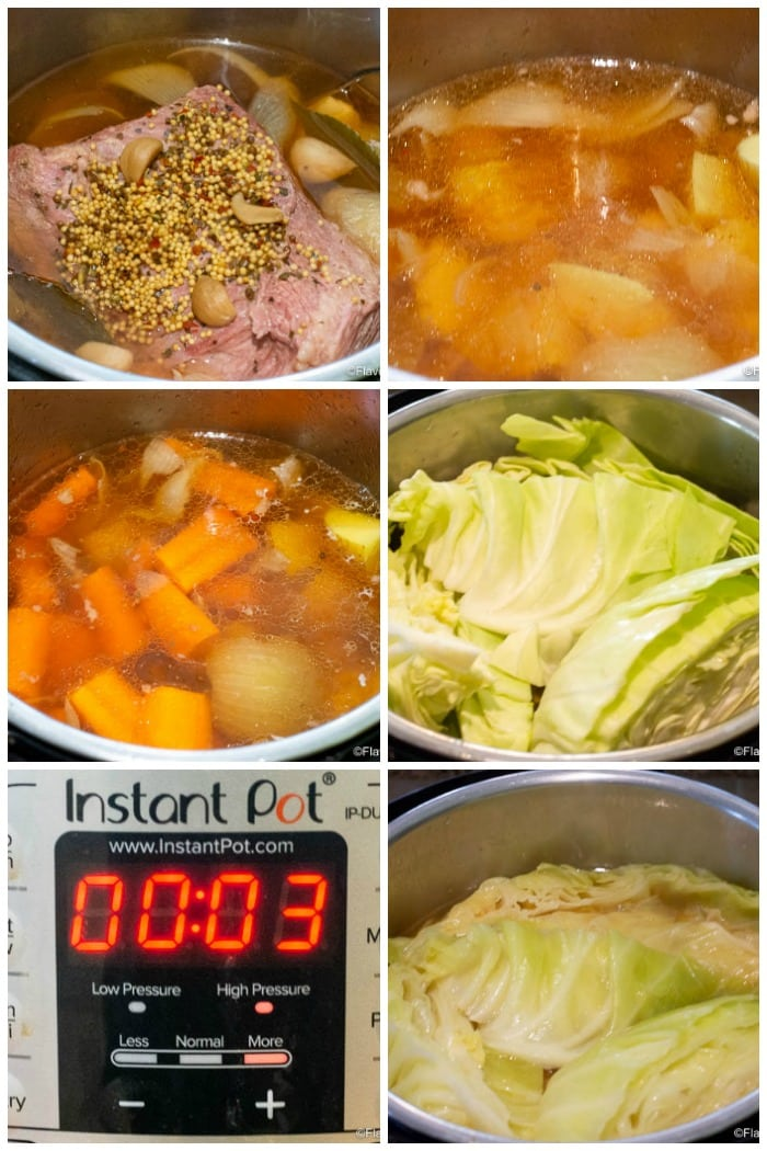 Instant Pot Corned Beef And Cabbage Step By Step Photos Pressure Cooking Vegetables