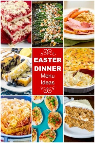 Easter Dinner Menu Ideas Collage Pin Flavor Mosaic