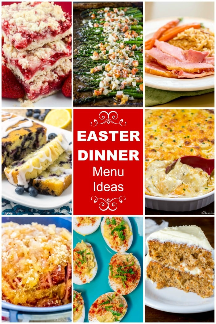 Easter Dinner Menu Ideas Collage Pin Flavor Mosaic