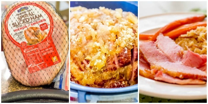 Easter Ham Main Dish Photo Collage