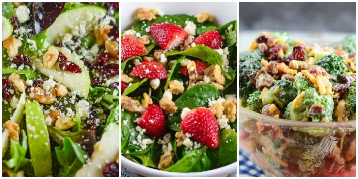 Easter Salad Recipe Photo Collage