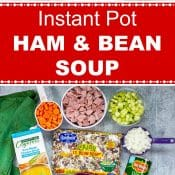 Instant Pot Ham and Bean Soup 3-photo long pin red label flavor mosaic