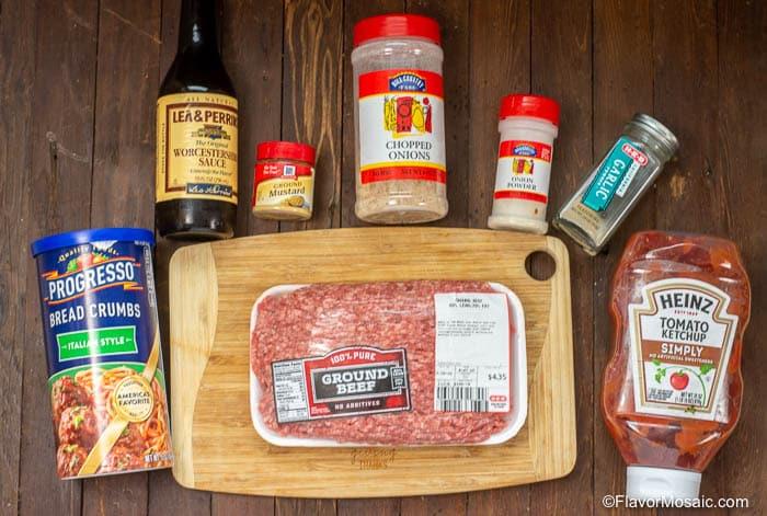 Ingredients for Instant Pot Salisbury steak