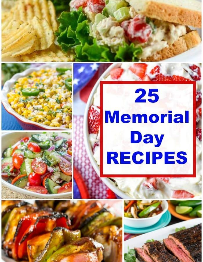 Memorial Day Recipe Photo Collage Pin For 25 Memorial Day Recipes