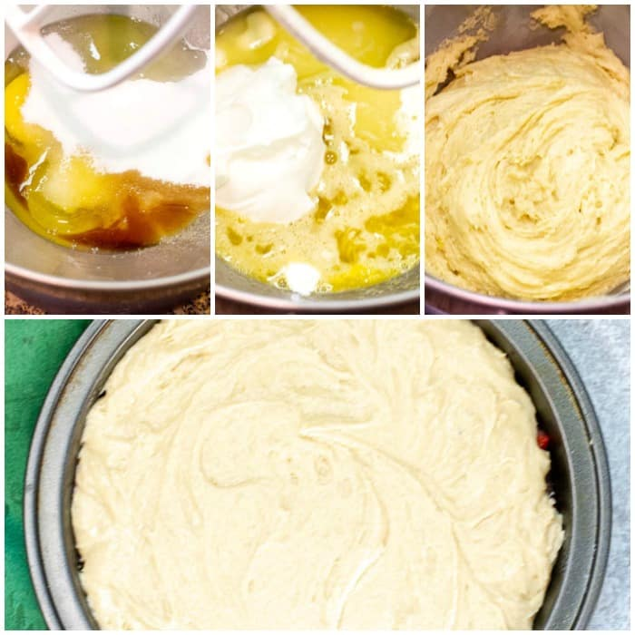 Step By Step Photos For Making Cake Batter for Strawberry Upside Down Cake - Flavor Mosaic