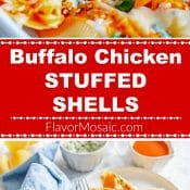 Buffalo Chicken Stuffed Shells 2-Photo Red Label Long Pin 6