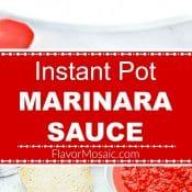 Instant Pot Marinara Sauce 2-photo red label long pin flavor mosaic