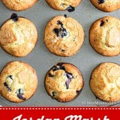 Jordan Marsh Blueberry Muffins 1-photo red label pin 2 Flavor Mosaic
