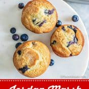 Jordan Marsh Blueberry Muffins 1-photo red label pin 3 Flavor Mosaic