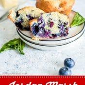 Jordan Marsh Blueberry Muffins 1-photo red label pin 4 Flavor Mosaic