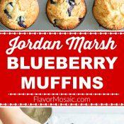 Jordan Marsh Blueberry Muffins 2-Photo Red Label Long Pin 3 Flavor Mosaic