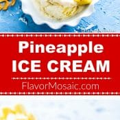 Pineapple Ice Cream 2-photo Red Label Long Pin 3 by Flavor Mosaic