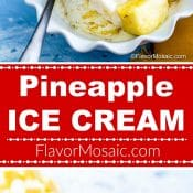 Pineapple Ice Cream Flavor Mosaic Long Pin 2-photo red label 4