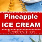 Pineapple Ice Cream Long Pin 6 2-photo red label Flavor Mosaic