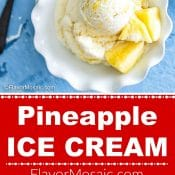 2-Photo Red Label Long Pin for Pineapple Ice Cream by Flavor Mosaic