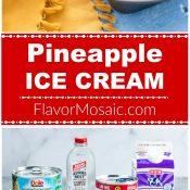 Pineapple Long Pin 3-Photos Red Label Flavor Mosaic Pin