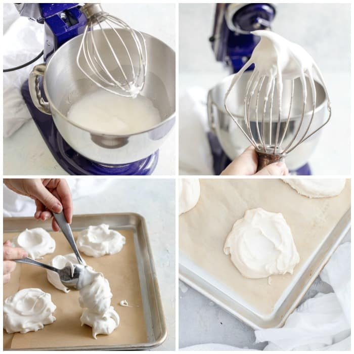 Step By Step How To Make Strawberry Mini Pavlova photo collage Flavor Mosaic