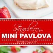 Strawberry Mini Pavlova 2-Photo Red Label Long Pin 2 Flavor Mosaic