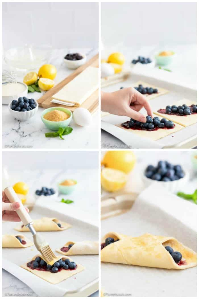 4 Photos of Step By Step How To Make Blueberry Puff Pastry