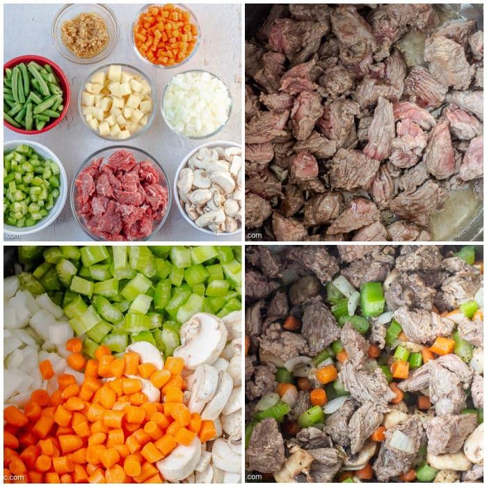 4-Photo Photo Collage of ingredien