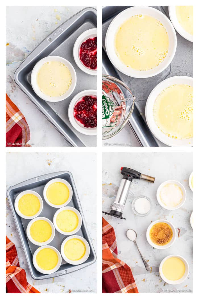 Creme Brulee Photo Collage Process Steps 10 - 13