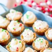 Pan of Mini Gingerbread Cheesecakes Cups