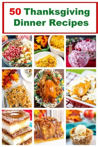 50 Thanksgiving Dinner Recipes Pin Collage