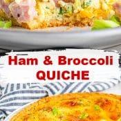 Ham and Broccoli Cheese Quiche-2-Photo Pin v1
