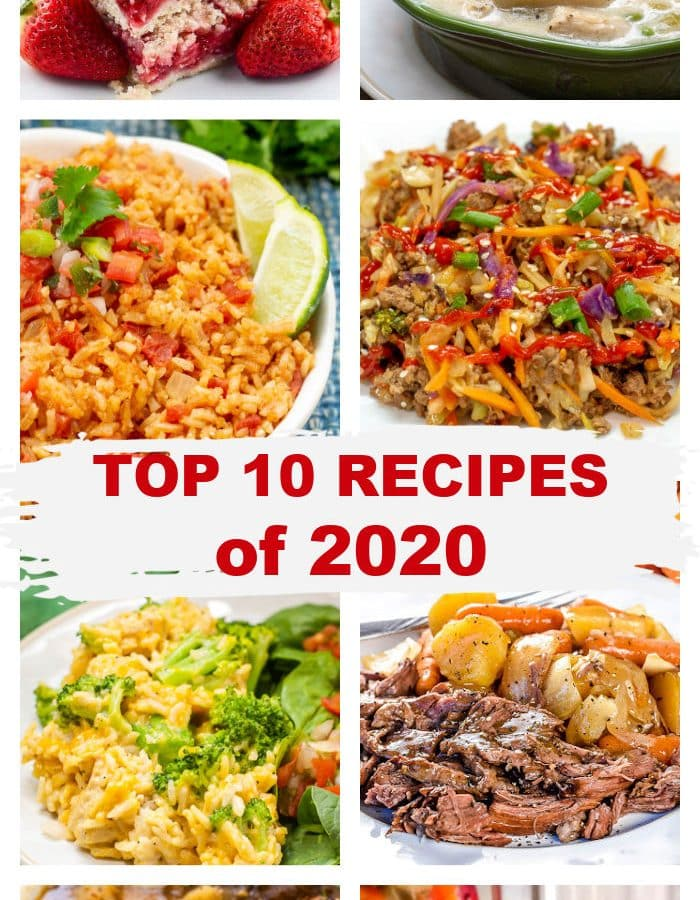 Photo collage of Top 10 Recipes of 2020 on FlavorMosaic.com