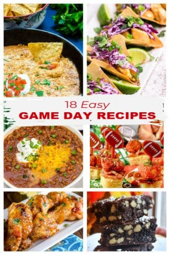 18 Easy Game Day Recipes v1 photo collage