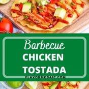 BARBECUE CHICKEN TOSTADA 2-photo pin flavor mosaic