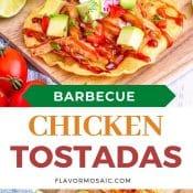 Easy Barbecue Chicken Tostadas- 2-Photo Pin